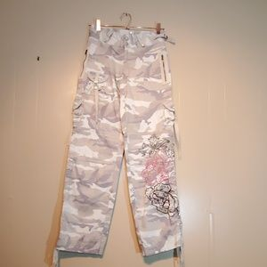 VENUS Embroidered Beaded Camo Pants